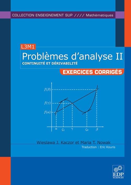 L3M1 ; problèmes d'analyse II ; exercices corrigés
