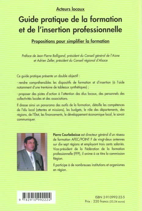 Guide pratique de la formation et de l'insertion professionnelle - 1ere ed.