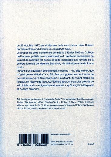 Roland Barthes, la littérature et le droit