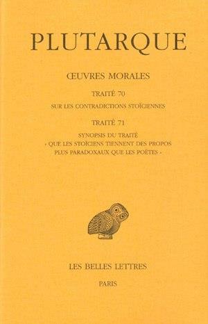 oeuvres morales t.15-1 ; traités 70 -71