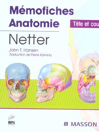 Memofiches anatomie ; tete et cou