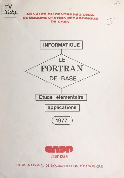 Le FORTRAN de base