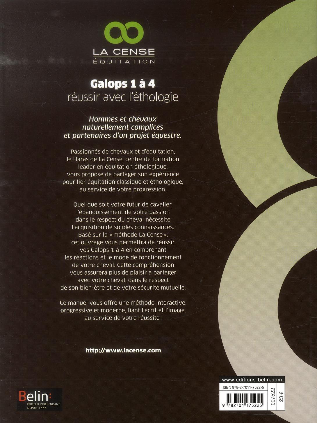 Galops 1 à 4 ; réussir par l'éthologie