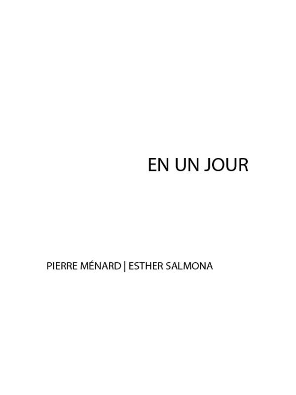 Vente EBooks : En un jour  - Pierre MENARD  - Esther Salmona