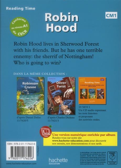 READING TIME ; anglais ; Robin Hood ; CM1 ; livre de l'élève
