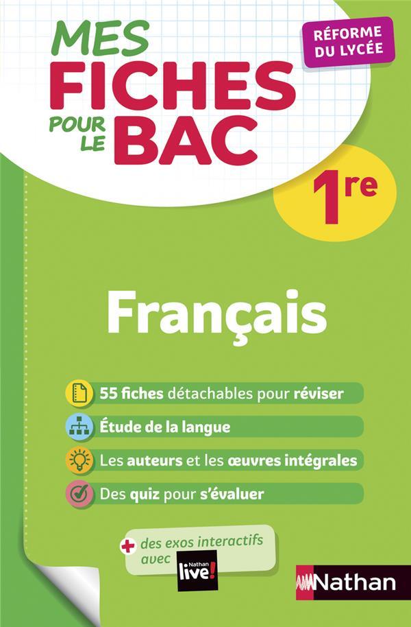 Mes Fiches Abc Du Bac T.4 ; Francais ; 1re (Edition 2019)