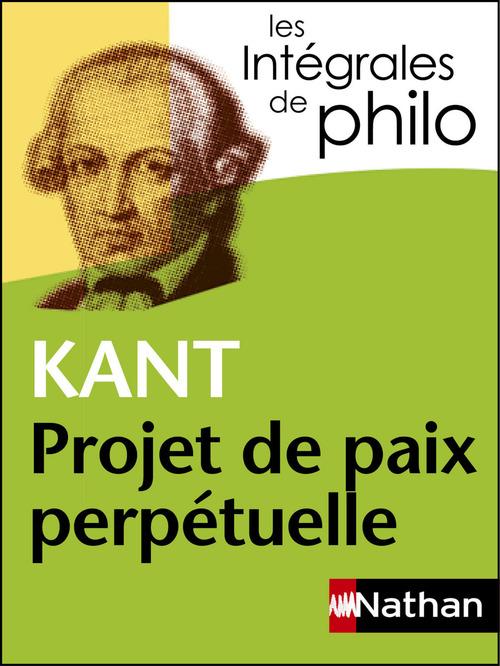 Projet de paix, de Kant