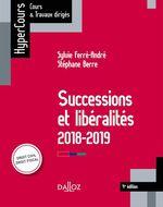 Successions et libéralités  - Sylvie Ferré-André - Stéphane Berre