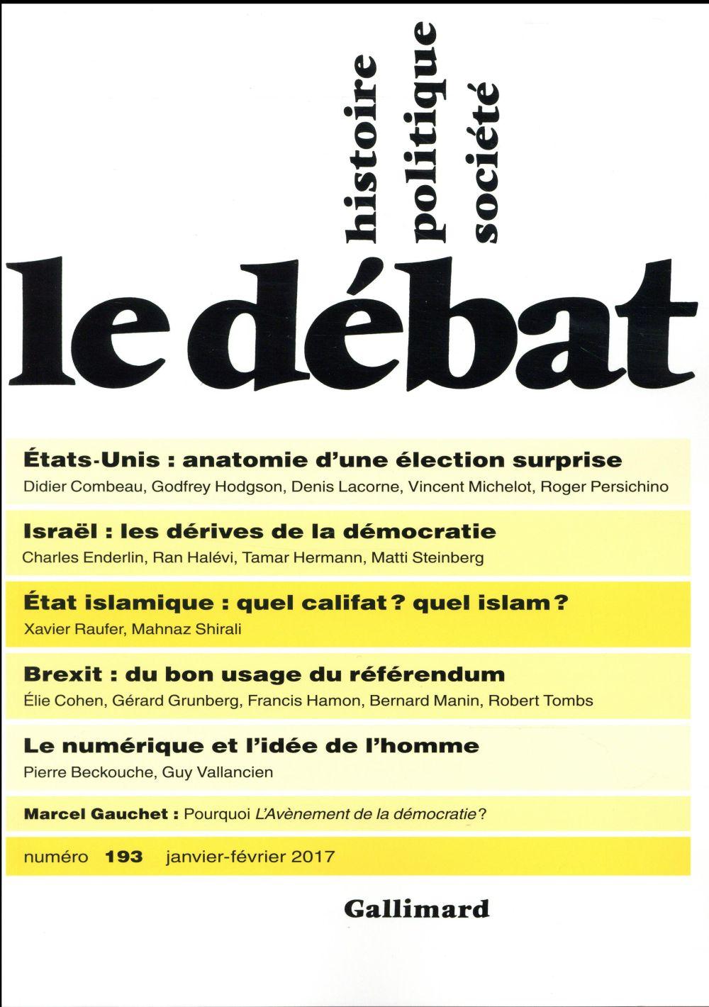 Revue le debat ; janvier 2017