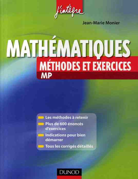 Mathematiques Methodes Et Exercices Mp