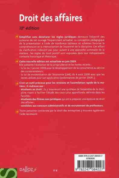 droit des affaires (18e édition)