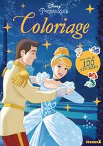 Disney Princesses ; coloriage avec plus de 100 stickers ; Cendrillon