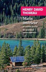 Vente EBooks : Matin intérieur  - Henry David THOREAU
