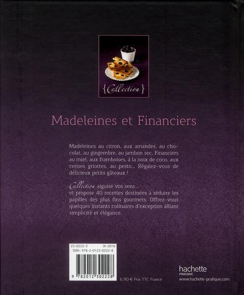 madeleines et financiers