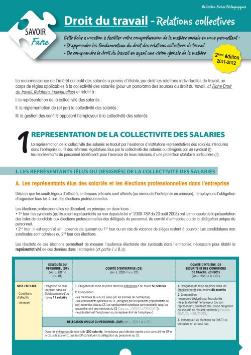 Droit Du Travail ; Relations Collectives (2e Edition)