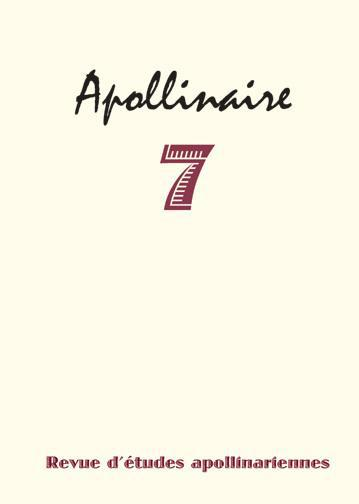Revue d'etudes apollinariennes n.7