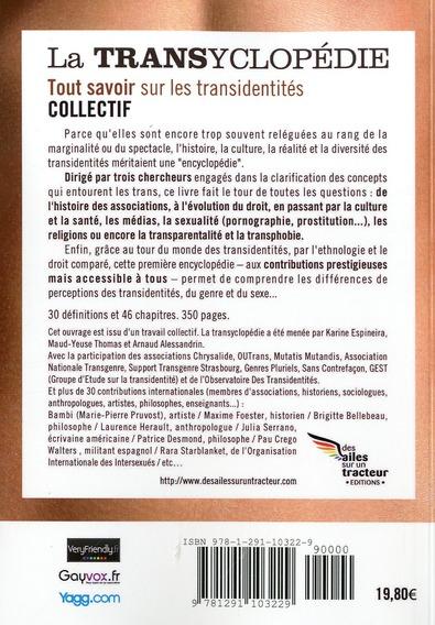 la transyclopedie : pour tout savoir sur les transidentites (2013)