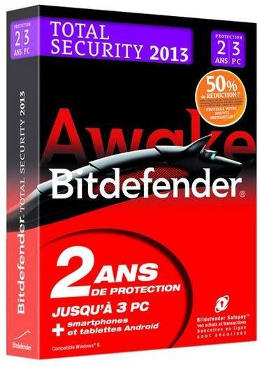 Bitdefender Total Security 2013 (offre d'attachement)