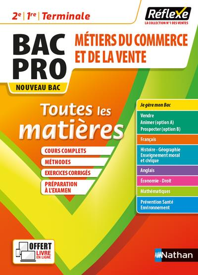 Mémos réflexes t.6 ; toutes les matières : bac pro métiers du commerce (édition 2021)