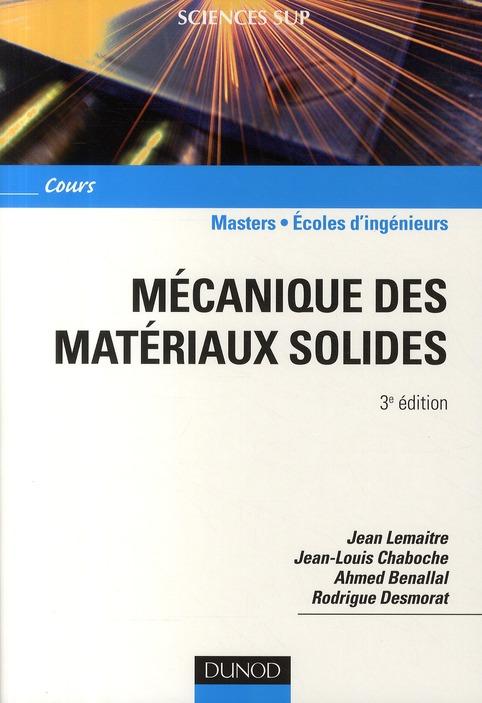 Mecanique Des Materiaux Solides - 3eme Edition