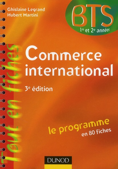 Commerce International ; Le Programme En 80 Fiches (3e Edition)