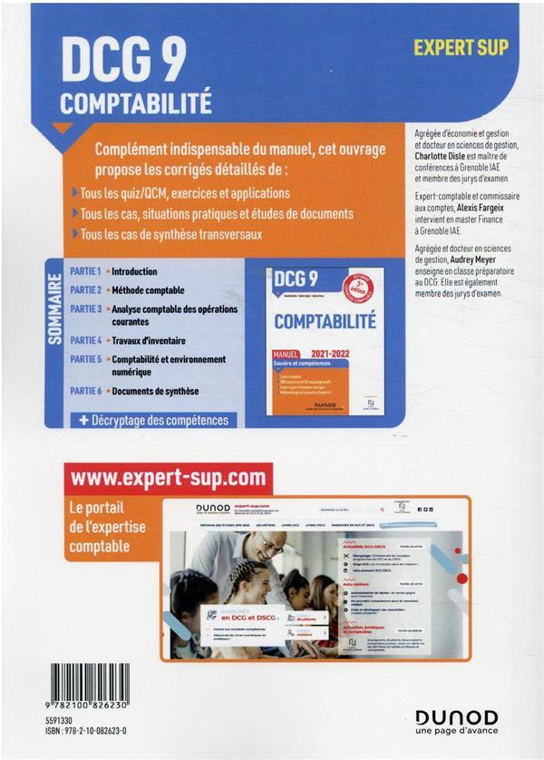 DCG 9 : introduction à la comptabilité ; corrigés (édition 2021/2022)
