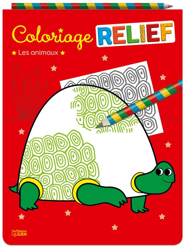 Coloriage relief ; les animaux