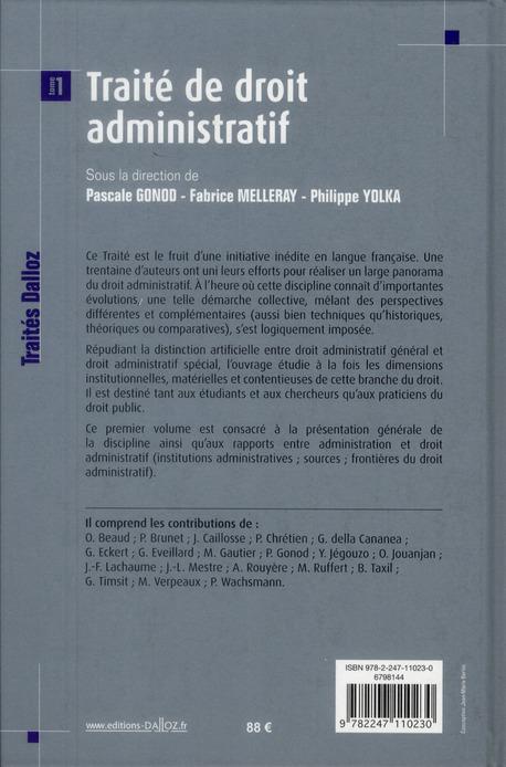 Traité de droit administratif. t.1