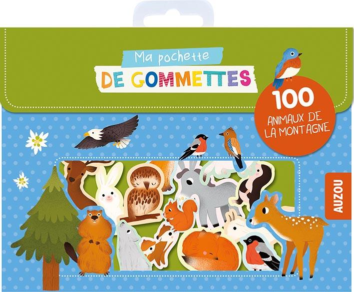 Ma pochette de gommettes ; 100 animaux de la montagne