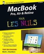 Vente Livre Numérique : MacBook Pro, Air & Retina pour les Nuls, 4e édition  - Mark L. CHAMBERS