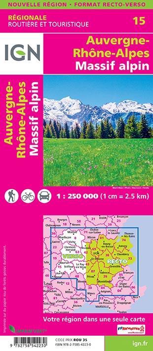 NR15 ; Auvergne-Rhône-Alpes, Massif alpin