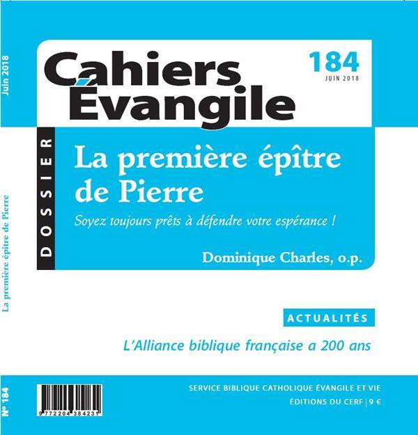 CE-184 LA PREMIERE EPITRE DE PIERRE