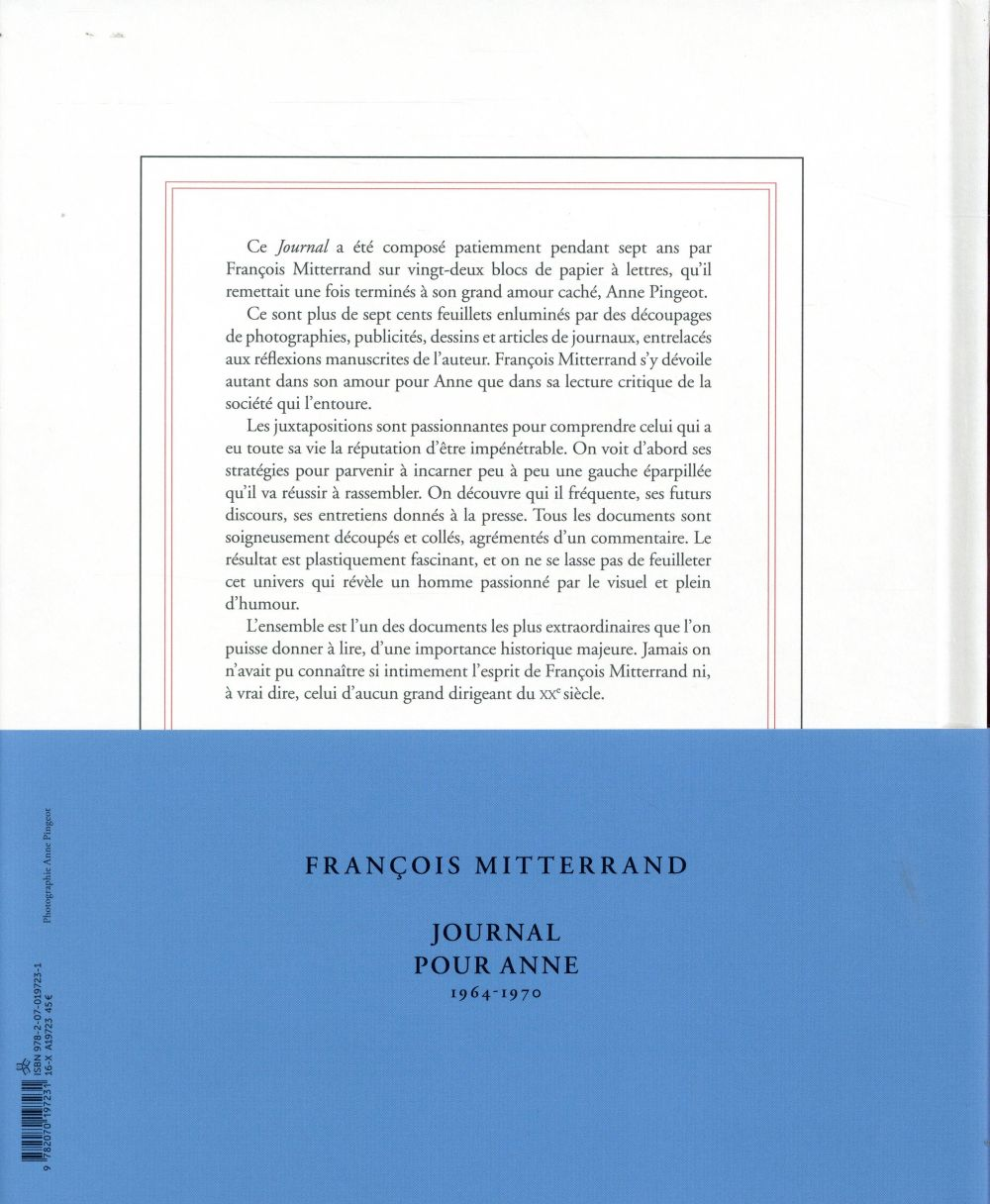 Journal pour Anne ; 1964-1970