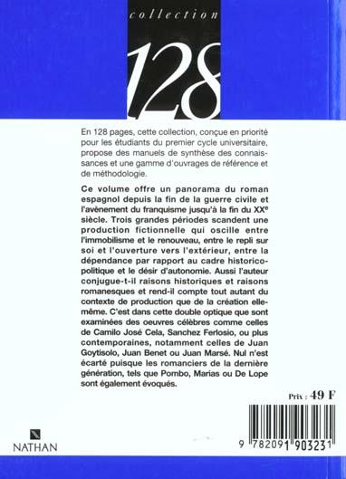 le roman espagnol apres 1939