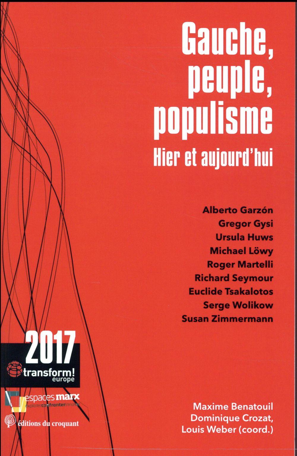 Gauche, peuple, populisme