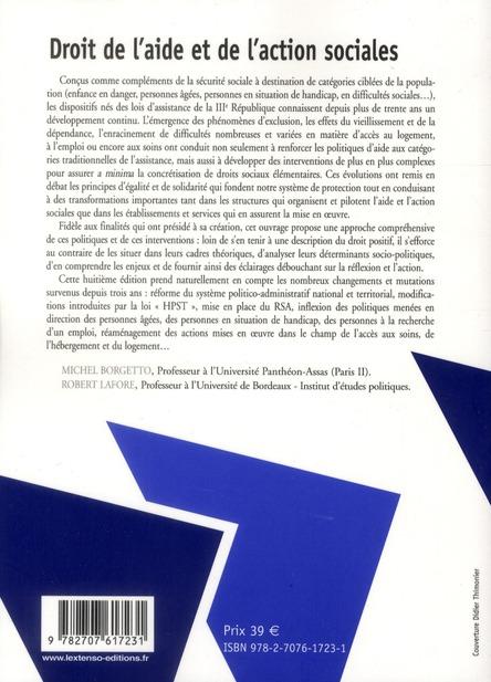 Droit de l'aide et de l'action sociales (8e édition)