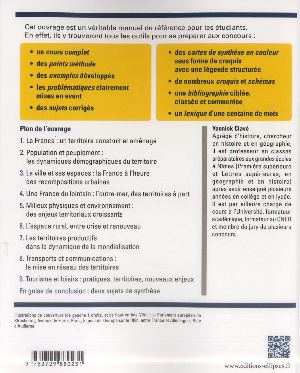 géographie de la France ; cours, méthode, sujets