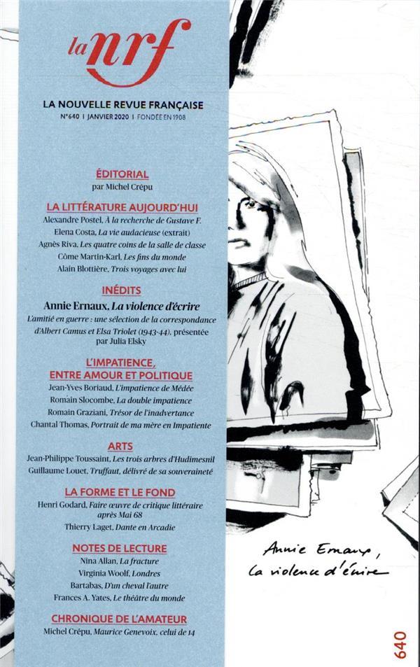 La nouvelle revue francaise n.640