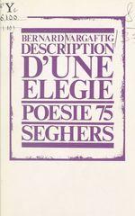 Vente Livre Numérique : Description d'une élégie  - Bernard Vargaftig
