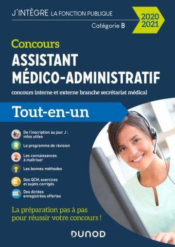CONCOURS ASSISTANT MEDICO-ADMINISTRATIF  -  CONCOURS INTERNE ET IEXTERNE BRANCHE SECRETARIAT MEDICAL  -  CATEGORIE B  -  TOUT-EN-UN (EDITION 20202021) POPPE/DAIGNEAU