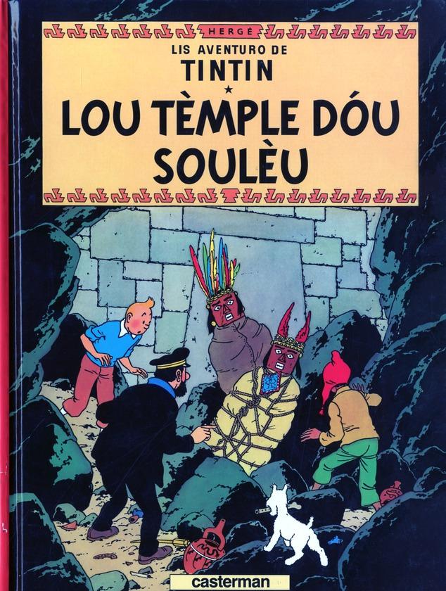 Les aventures de Tintin ; lis aventuro de Tintin t.14 ; lou tèmple dóu soulèu