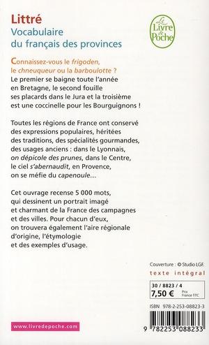 Le vocabulaire du français des provinces