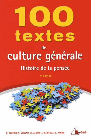 100 Textes De Culture Generale