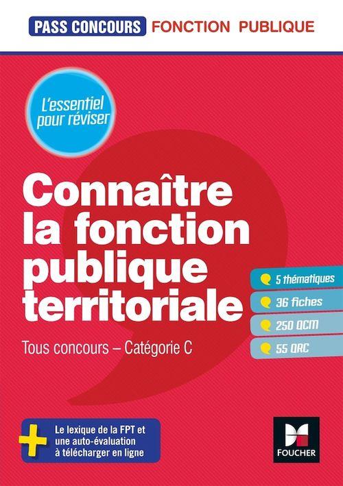 Pass'Concours - Connaître la Fonction publique territoriale - Cat. C - Entrainement et révision