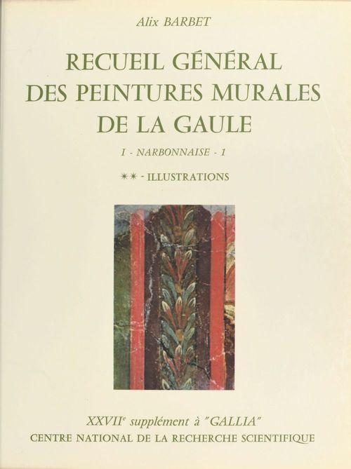 Recueil général des peintures murales de la Gaule (1.2) : Province de Narbonnaise, Glanum (Illustrations)