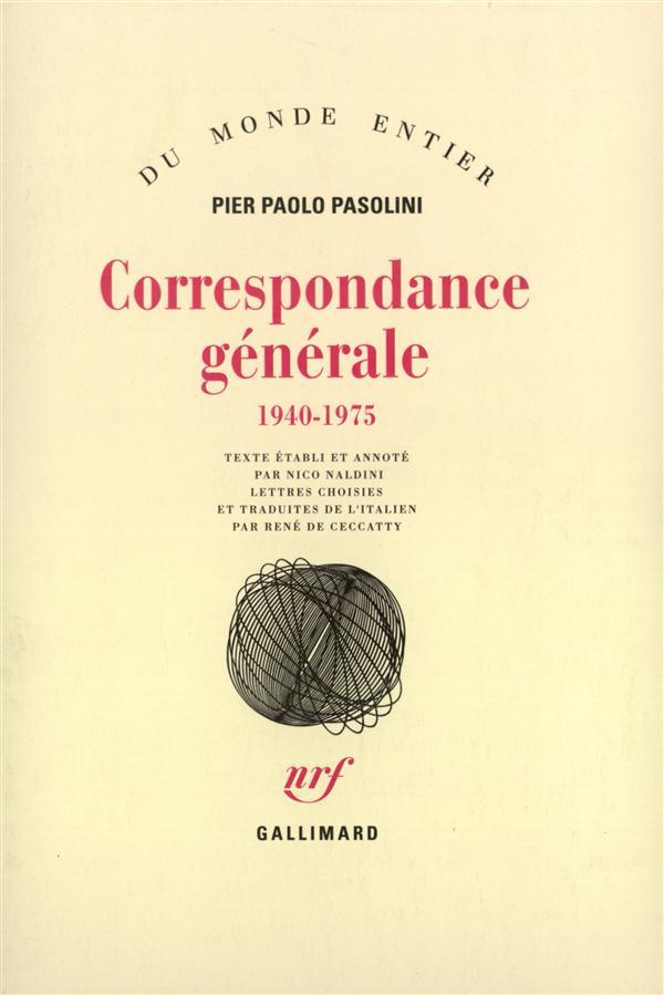Correspondance generale (1940-1975)