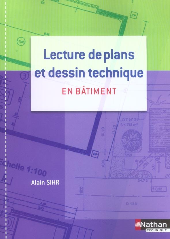 Lecture De Plans Et Dessin Technique En Batiment ; Cap/Bac Pro ; Pochette De L'Eleve (Edition 2004)
