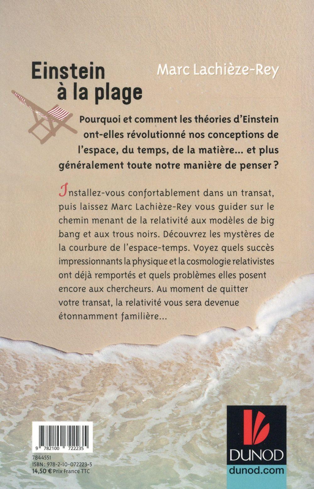 Einstein à la plage ; à la découverte de la relativité