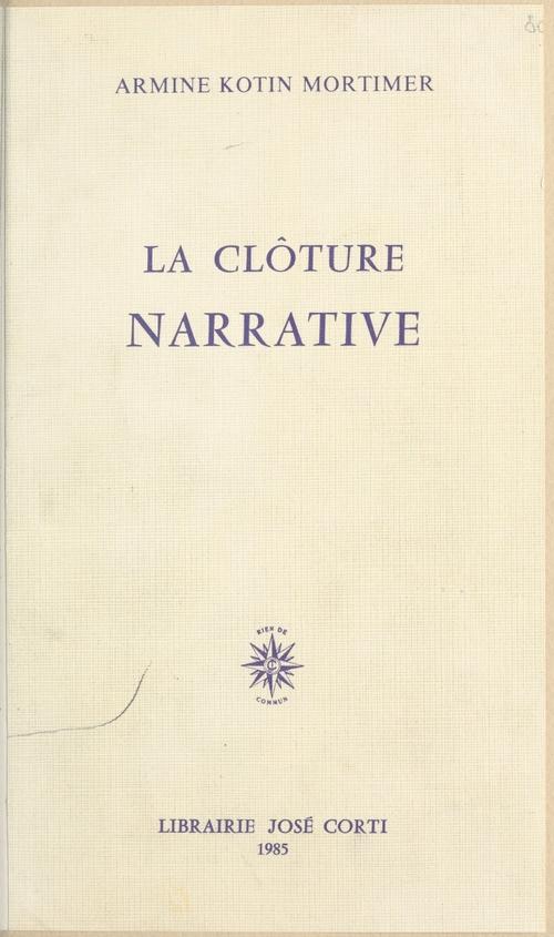 La cloture narrative