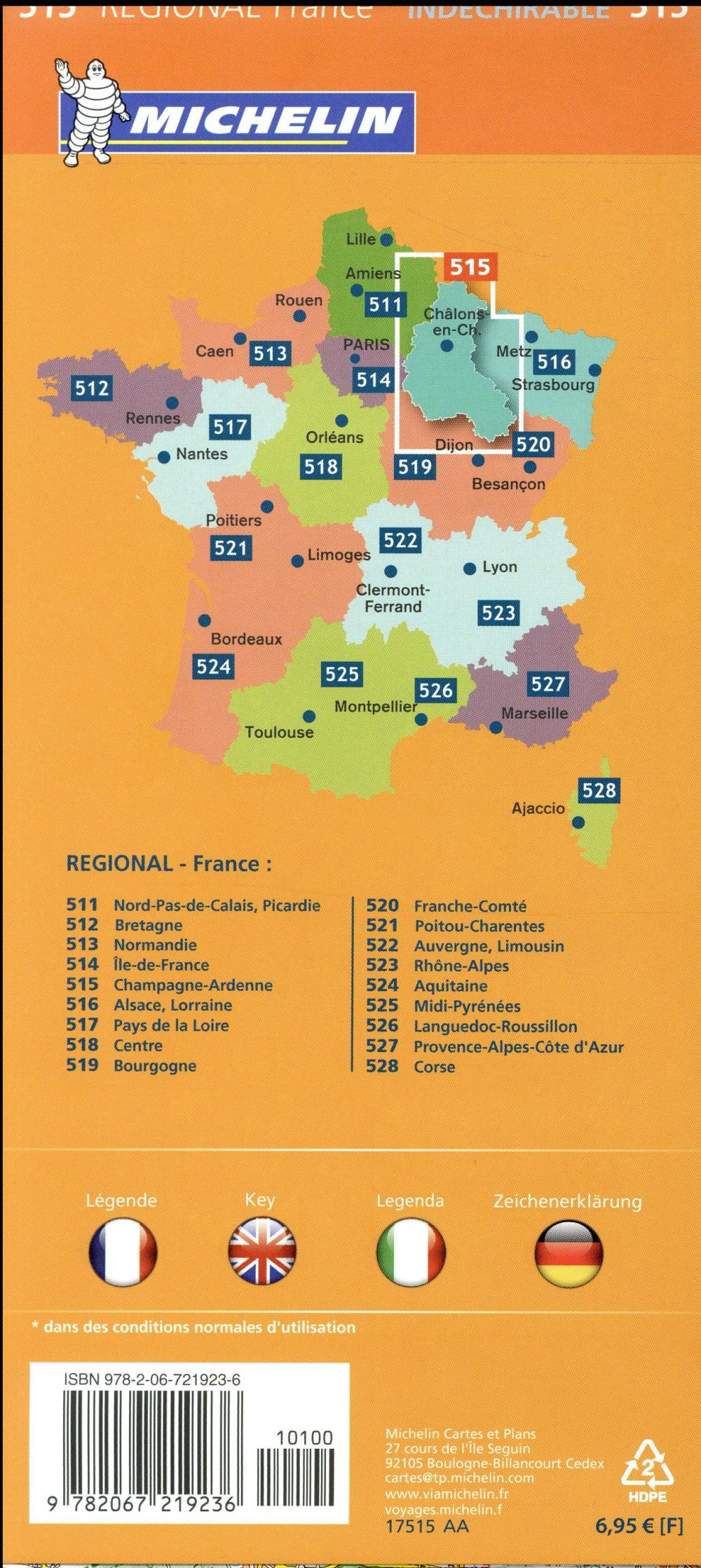 Cartes Plans Guides Carte Michelin Regional Champagne Ardenne N 515 Collections Majjistral Org